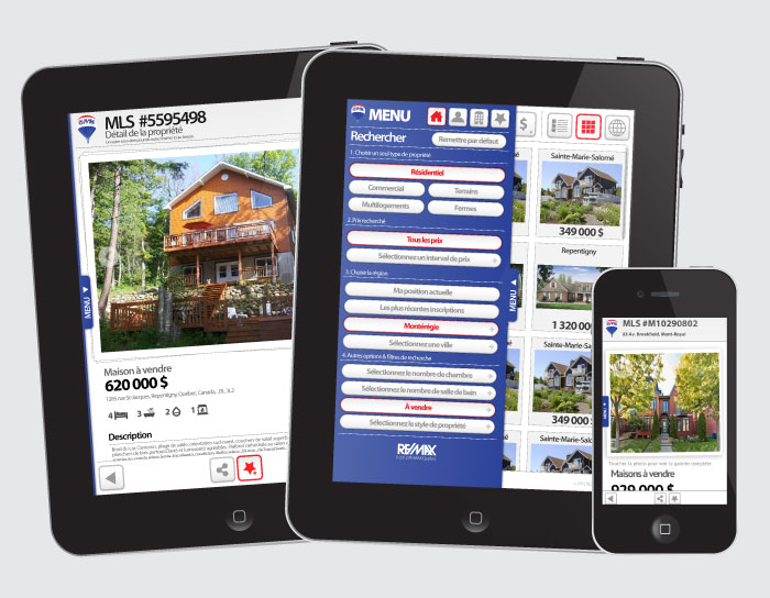 Application iPhone & iPad de Remax Québec